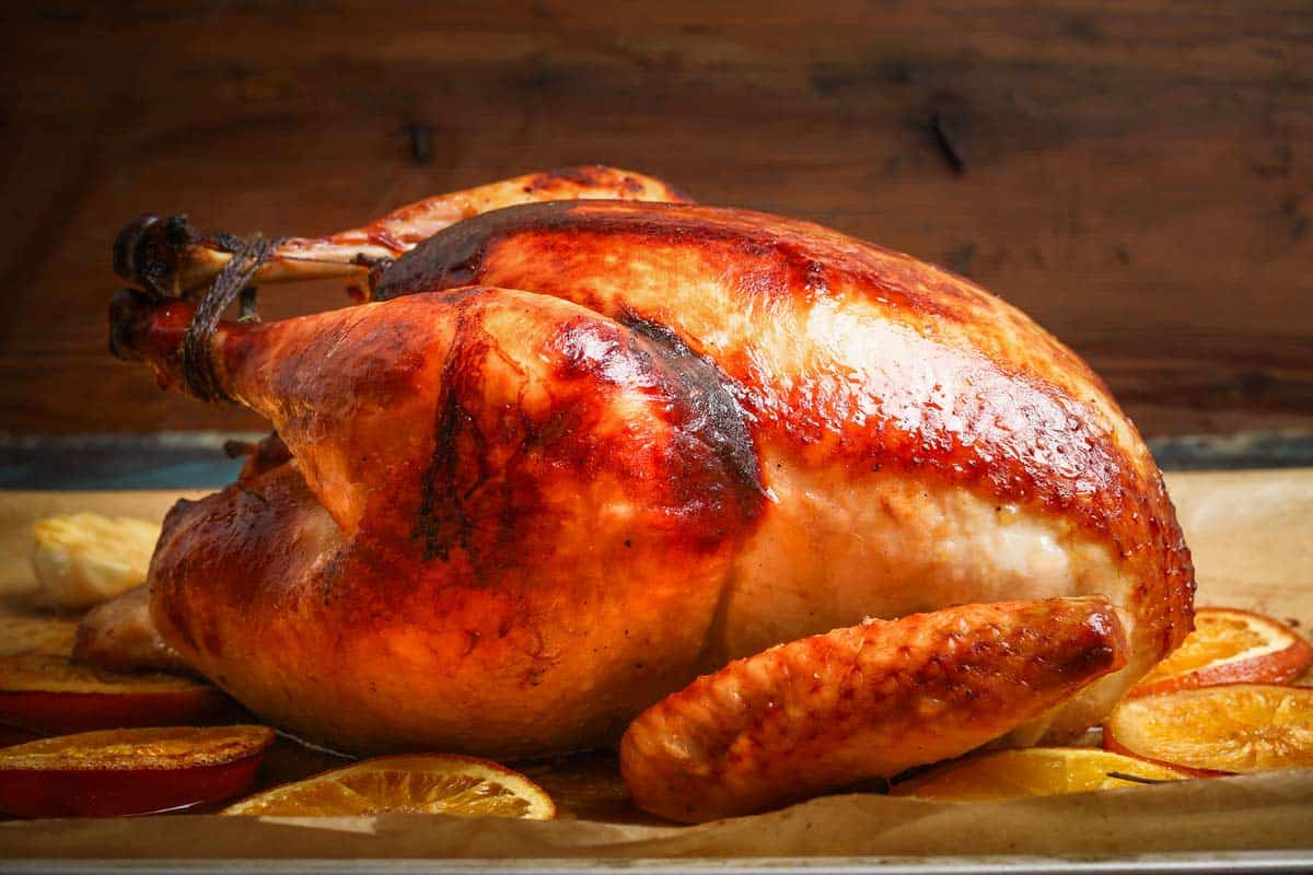 Baked turkey