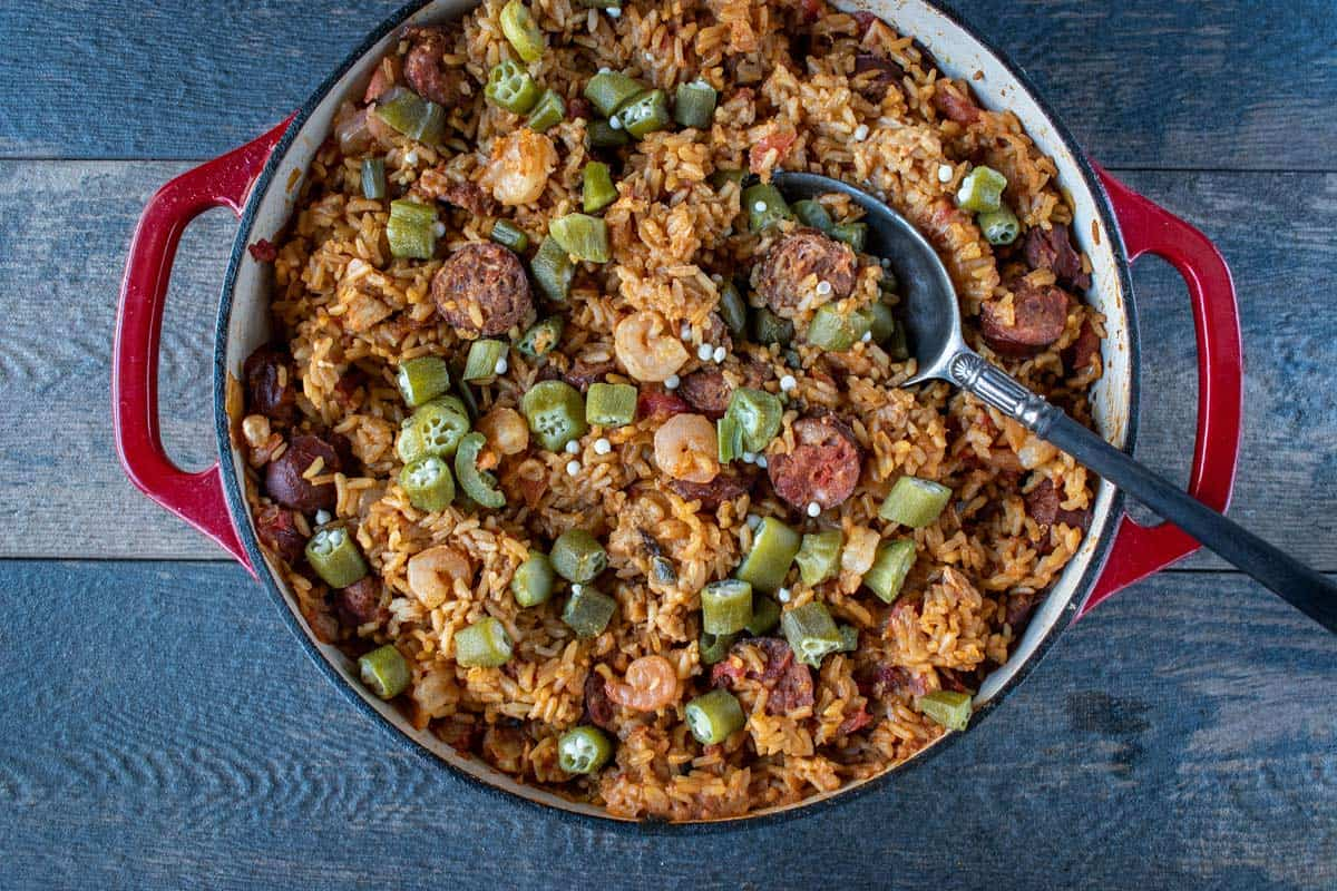 Okra rice recipe