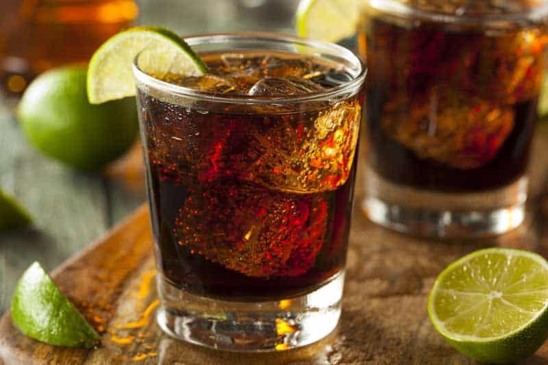 Cuba Libre Drink. Cuban Cocktail Recipe