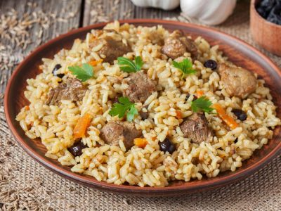 rice with pork